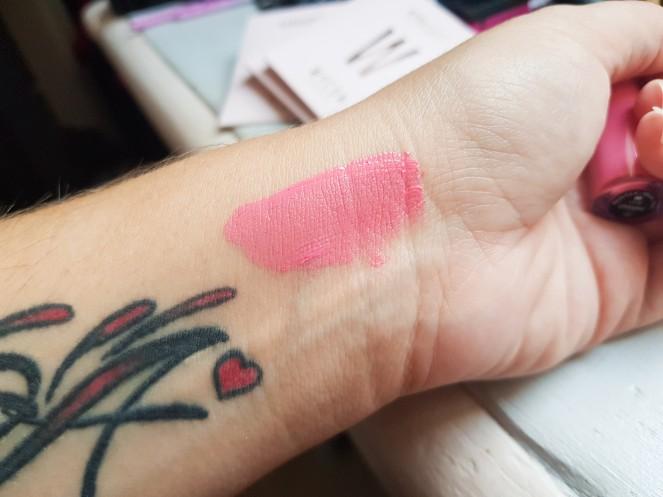Wycon ral liquid lipstick Barbie swatch